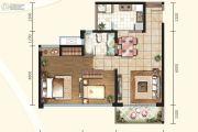 信和御龙山2室2厅1卫82平方米户型图