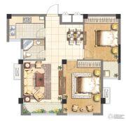 赞城2室2厅1卫72平方米户型图