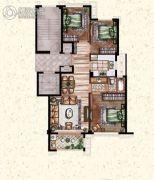 莲桥府3室2厅1卫104平方米户型图