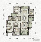 万科金色悦城4室2厅2卫137平方米户型图