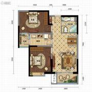 金沙星城2室2厅1卫93平方米户型图