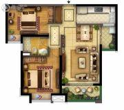 实地玫瑰庄园3室2厅1卫86平方米户型图