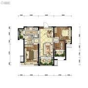 沈阳雅居乐花园2室2厅1卫98平方米户型图