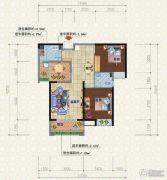 宜化新天地2室2厅1卫93平方米户型图