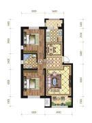 苏宁绿谷庄园2室2厅1卫88--95平方米户型图