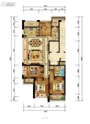 绿城九龙仓柳岸晓风4室2厅2卫160平方米户型图