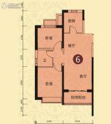 恒大山水城2室2厅1卫86平方米户型图