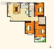 西城旺角3室2厅2卫136平方米户型图