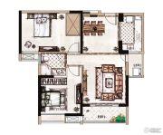 蓝惠首府2室2厅1卫89平方米户型图