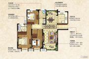 中南锦城3室2厅2卫125平方米户型图