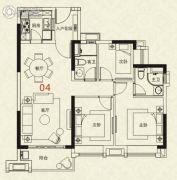 广州绿地城3室2厅2卫95平方米户型图