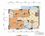 天元海天新城4室2厅2卫139平方米户型图