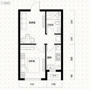 唐轩・公馆1室1厅1卫48平方米户型图