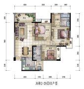 大信君汇湾3室2厅2卫121平方米户型图