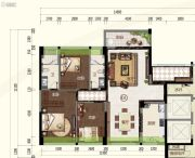 奥园・禧悦�_3室2厅2卫130平方米户型图