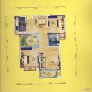 华侨城2室2厅1卫97平方米户型图