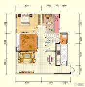 中盛・财富中心3室2厅1卫100平方米户型图