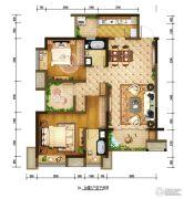 重庆巴南万达广场2室2厅2卫100平方米户型图