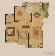 中南・世纪锦城3室2厅2卫125平方米户型图