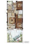 大华锦绣华城2室2厅1卫170--189平方米户型图