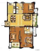 青林湾8期3室2厅2卫119平方米户型图