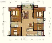 保利锦湖林语4室2厅2卫113平方米户型图