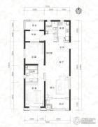 当代MOMA沿湖城3室2厅2卫125平方米户型图