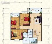 锦天・生态城3室2厅2卫136平方米户型图