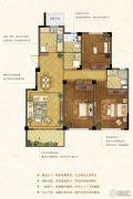 紫金华府3室2厅2卫120平方米户型图