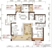 松江帕提欧3室2厅2卫142平方米户型图