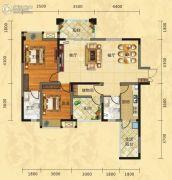 福庆花雨树3室2厅2卫117平方米户型图