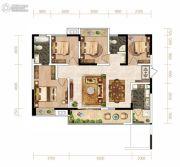 芙蓉・四季花城4室2厅2卫114平方米户型图