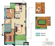 振业泊公馆2室1厅1卫0平方米户型图