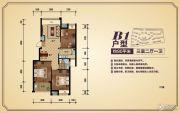 香樟源3室2厅1卫90平方米户型图