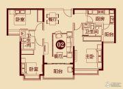 恒大雅苑3室2厅2卫124平方米户型图