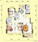 苏通国际新城3室2厅2卫126--130平方米户型图