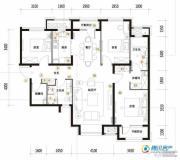 华润橡树湾3室2厅2卫135平方米户型图