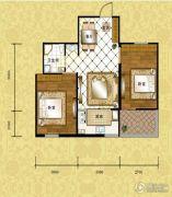 格林小镇2室2厅1卫54平方米户型图