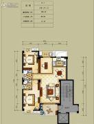 凯旋帝景3室2厅2卫106平方米户型图