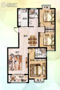 众大上海城3室2厅2卫127平方米户型图