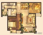 城置御水华庭2室2厅1卫77平方米户型图