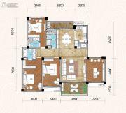 畔山林语4室2厅3卫166平方米户型图