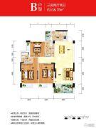 时代名城3室2厅2卫118平方米户型图
