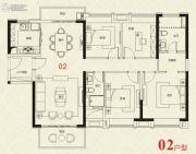 广州绿地城4室2厅2卫144平方米户型图