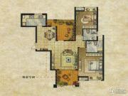 达安上品花园2室2厅2卫113平方米户型图
