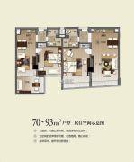 民大商贸大厦0室0厅0卫70--93平方米户型图