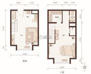 燕赵锦河湾1室1厅1卫78平方米户型图