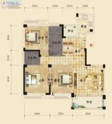 香岸华府二期3室2厅2卫127平方米户型图