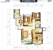 恒大华府3室2厅2卫119平方米户型图