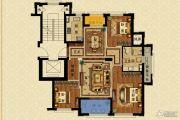长峙岛・香芸园3室2厅1卫115平方米户型图